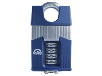 Warrior High-Security Closed Shackle Combination Padlock 55mm